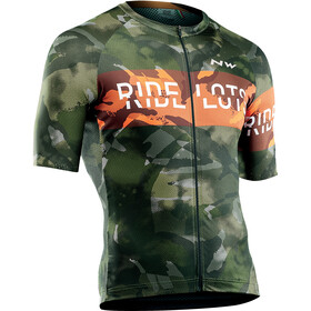 Northwave Blade Short Sleeve Jersey Men forest orange